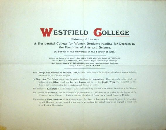 Folder Colégio Westfield, 1915